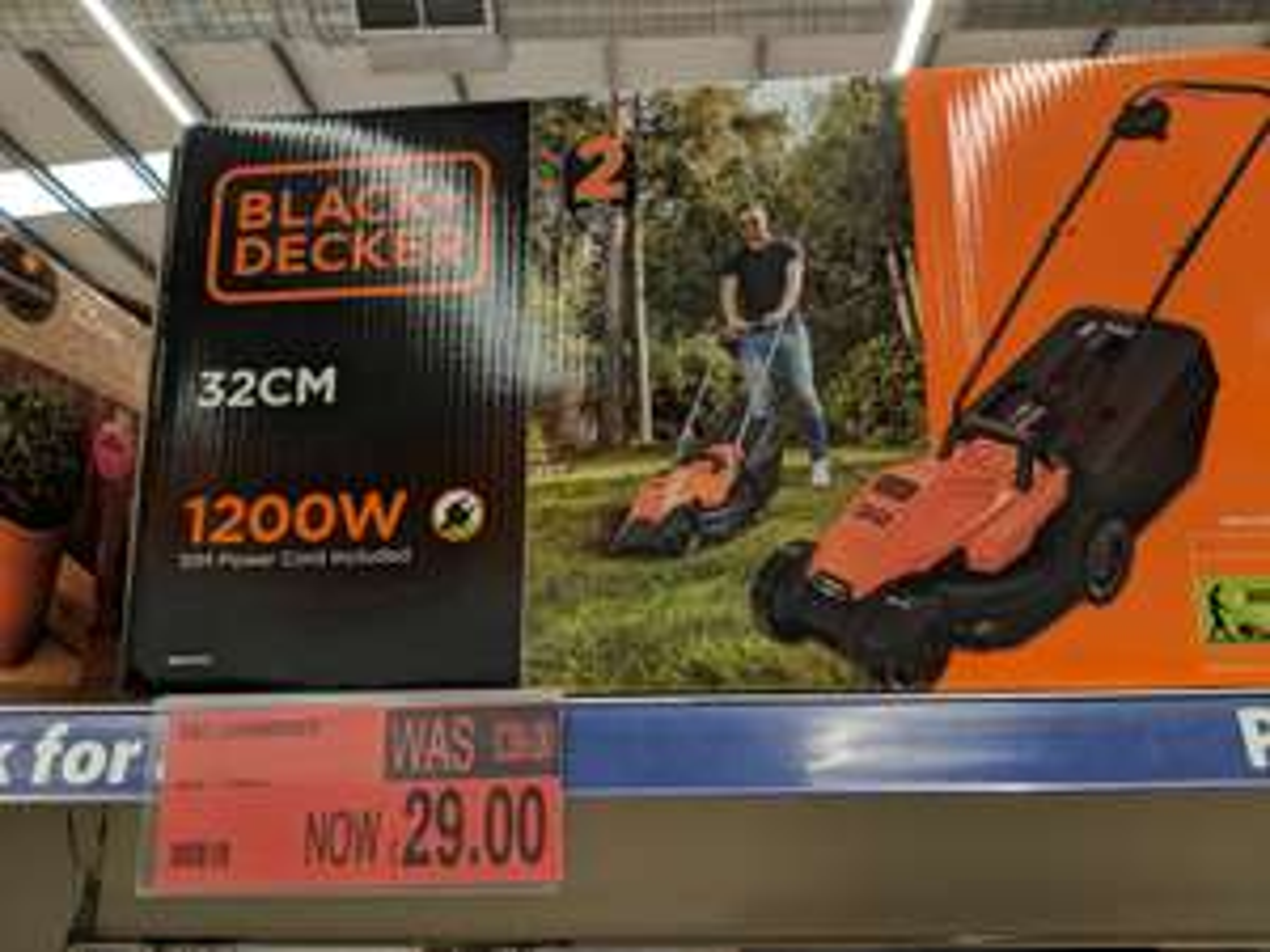 Black & Decker BEMW451 Rotary Lawnmower 320mm 240v at B&M for £29