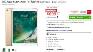 New Apple iPad Pro Wi-Fi + 512GB 10.5 Inch Tablet - Gold MPGK2B/A *reduced by £240* - £699 @ LaptopsDirect