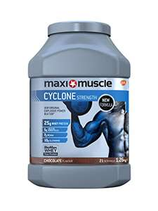 Maximuscle Cyclone Whey Protein Powder with Creatine, Chocolate, 1.26 kg - £19.99 amazon prime&subscribe and save / £24.48 non-Prime