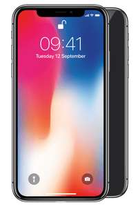 iPhone X 64gb, 60gb data on EE £58 a month no upfront costs x 24 months = £1,392 @ BuyMobiles