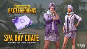 Playerunknown's Battlegrounds (PUBG) - Free Spa Day Loot Crate for Twitch Prime Members - PC Only