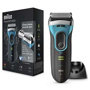 Braun Series 3 ProSkin 3080s Electric Shaver, Wet and Dry, rechargeable  £56.49  @ Amazon  ( Deal of the day )