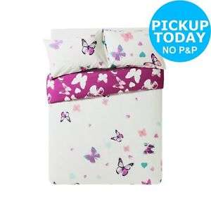 Argos Home Amelie Pink Butterfly Bedding Set (King/single only)- Argos Ebay from £6.99