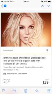 Britney Spears & Pitbull in Blackpool - VIP tickets from £39 @ ITISON