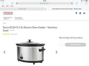 Tesco 5.5l slow cooker in store only £15