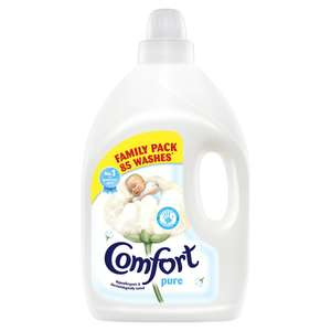 3L Comfort Pure \ Blue Skies 85 washes Family Pack Fabric Conditioner now £3 was £8 @ Wilko