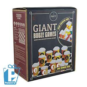 Giant Booze Games (Drinking Chess and Ludo) 2 giant game boards 2 dice 32 cups with chess only £1.99 Back In Store GREAT STOCKING FILLER @ Homebargains