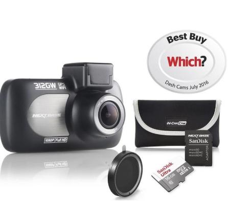 Nextbase 312GW Limited Edition bundle - 16GB micro SD + Lens + Case £84.15 @ Halfords eBay