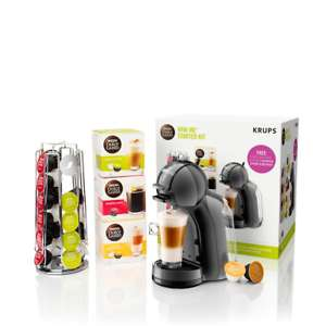 Krups Dolce Gusto coffee pod machine with 3 boxes of pods, pod stand & 2 year guarantee £42.49 delivered with code @ eBay sold by Currys