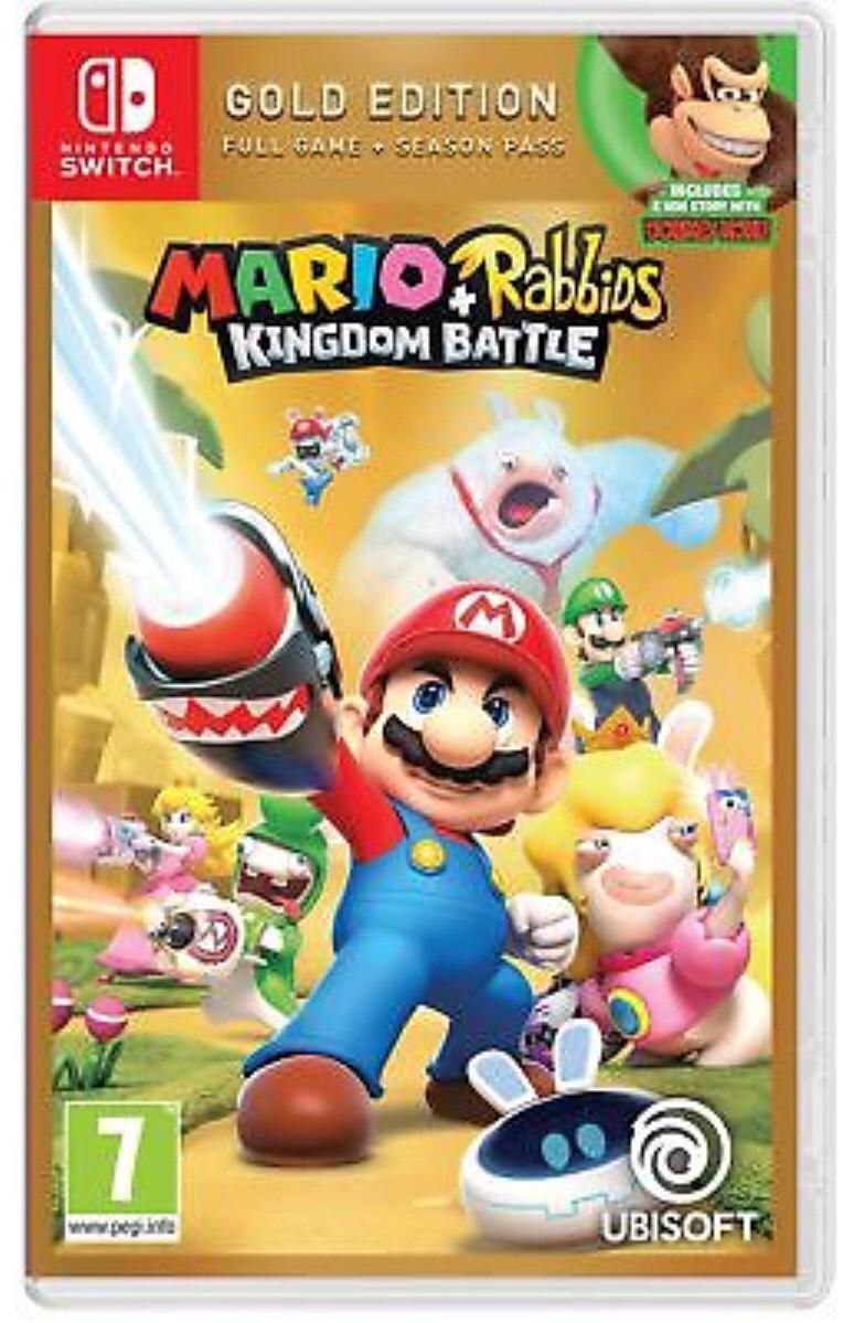 Mario and Rabbids Kingdom Battle Gold Edition (Switch) New & Sealed £29.63 w/code PIGGYBANK @boss_deals