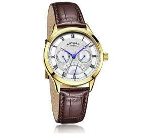 Rotary Men's Gold Plated Complication Strap Watch £33.99 at Argos Ebay