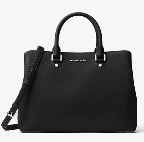 MICHAEL KORS Savannah Large Saffiano Leather Satchel £136 @ Michael Kors
