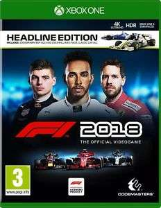 F1 2018 HEADLINE EDITION - PS4/XBOX ONE £38.12 @ simplygames_com / Ebay