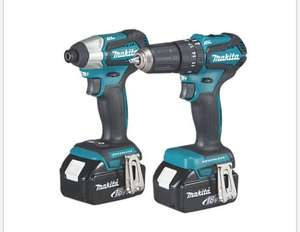 Makita 18v brushless twin pack, 2x 3.0Ah batteries, 1x carry case for £229.99 @ Screwfix