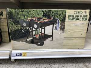 Double sided oil drum charcoal BBQ £35 @ Tesco - Manchester