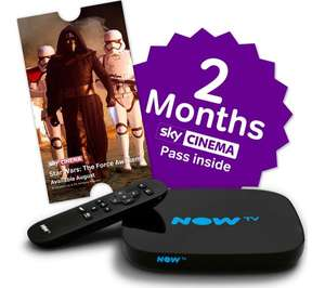 NOW TV HD Smart TV Box with 2 month Sky Cinema Pass (3 Month Ent also available) £29.99 Currys