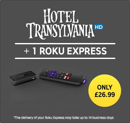 ROKU express + Hotel Transylvania 1 in HD - £26.99 @ Rakuten TV