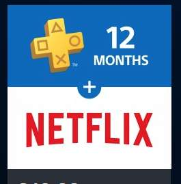 PlayStation®Plus: 12 Month Membership for £49.99 & incl. 3 Months of NETFLIX for FREE.. @ PSN