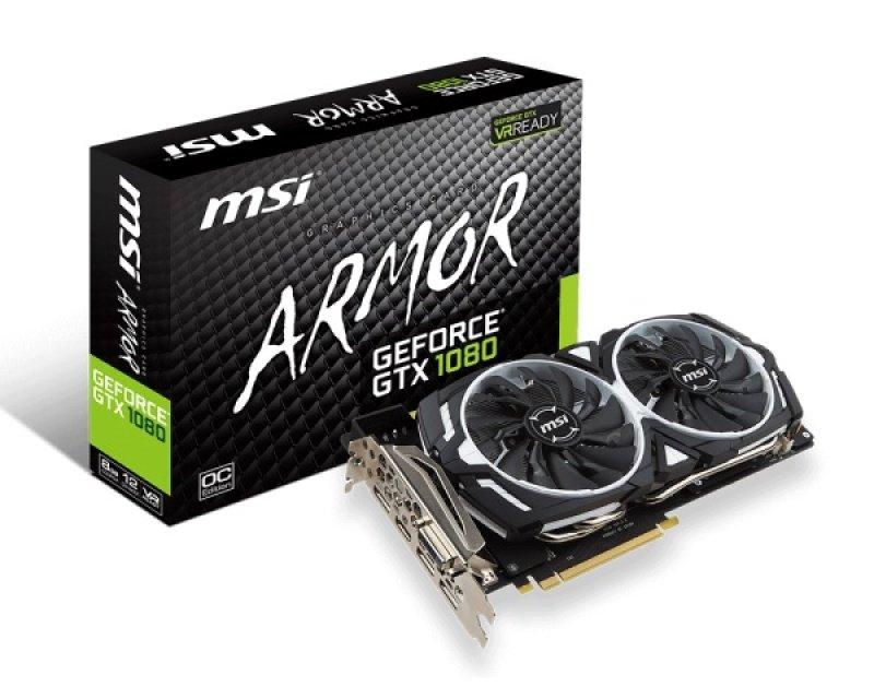 MSI GTX 1080 ARMOR OC 8GB GDDR5X Graphics Card - £429.98 @ Ebuyer