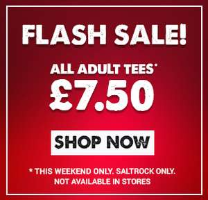 All Saltrock T-Shirts £7.50 (delivery £3.95 or free over £30)