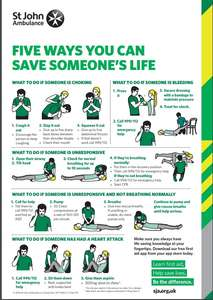 Free first aid posters - Download and print posters for your fridge, staff notice board, or classroom. From St John Ambulance
