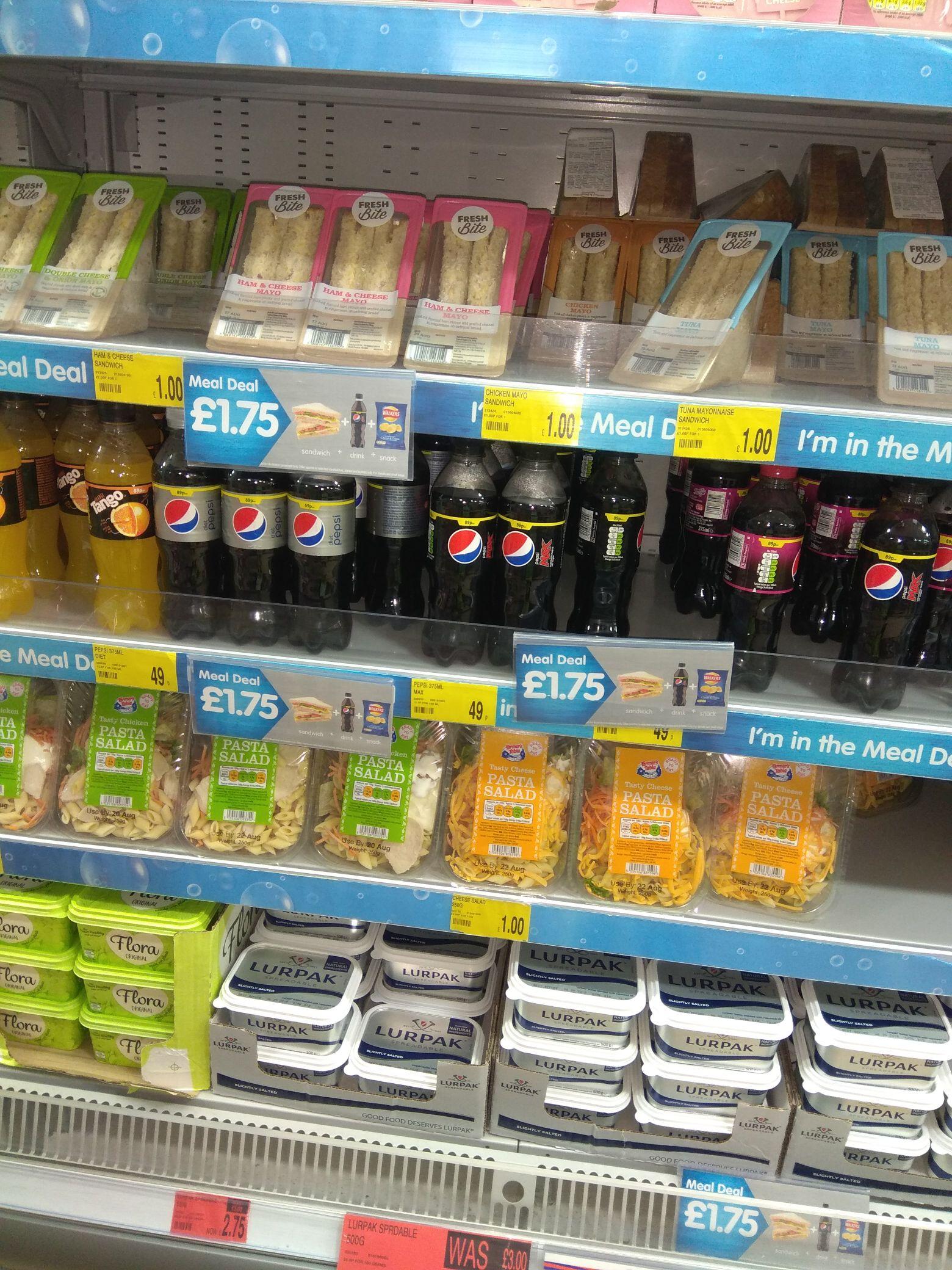 B&M meal deal £1.75 - Sandwich, drink & crisps