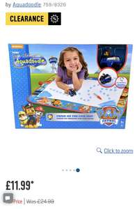 Paw Patrol Aquadoodle £11.99 Argos clearance free click and collect