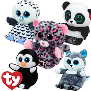 Ty Peek-a-Boos Tablet Holder available in Penguin Panda Owl Husky or Cat Approx. Measurements: H34 x W18cm  In Store @ Homebargains