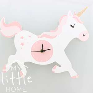 Unicorn Wall Clock for children's bedroom only £3.99 @ Homebargains