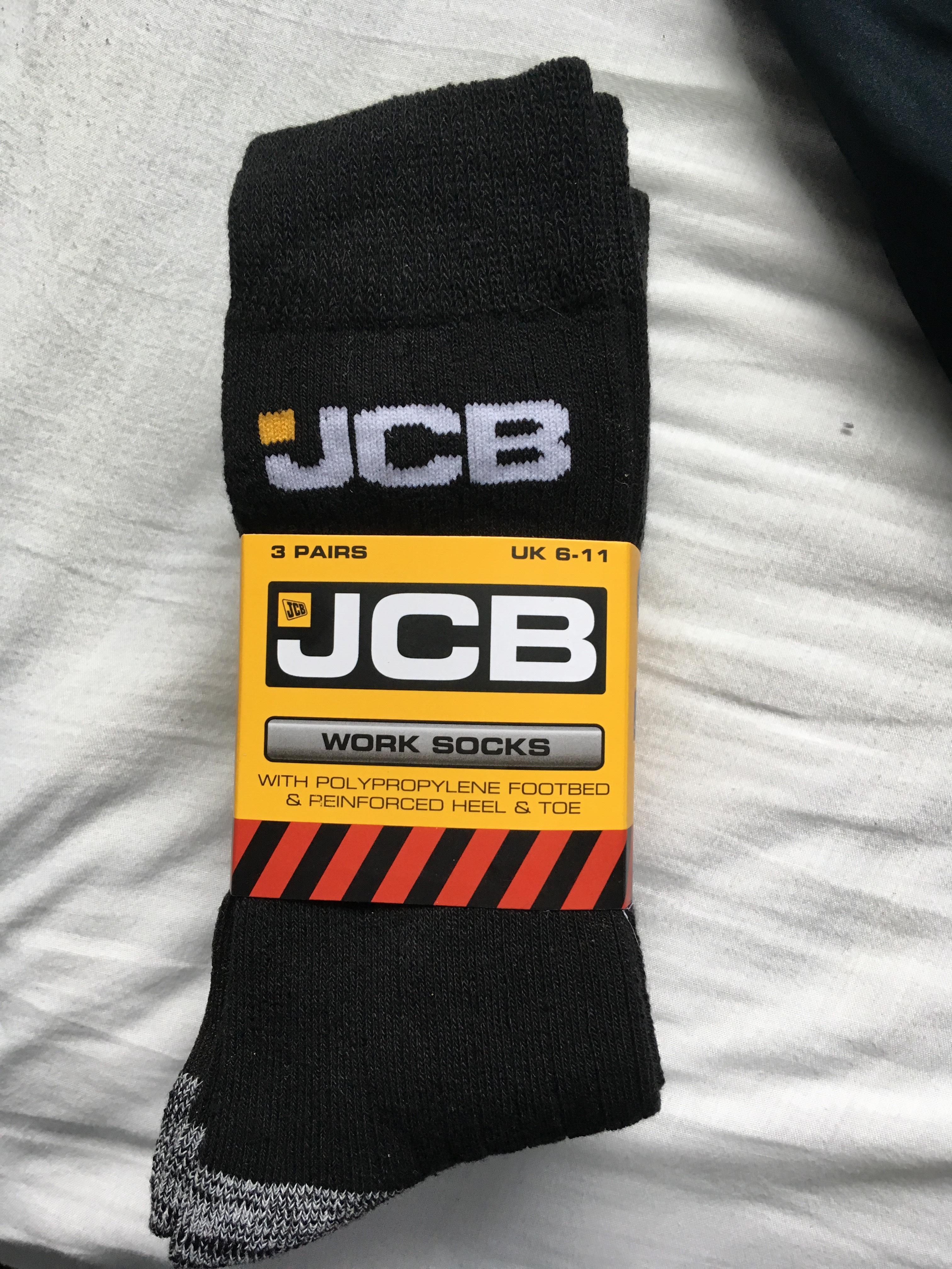 JCB branded men's socks (3 pairs) was £5.99 now 99p at Aldi