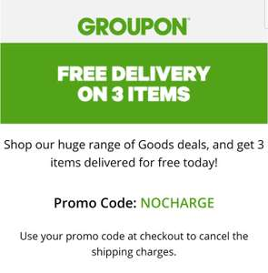 Get 3 Goods from Groupon delivered for free