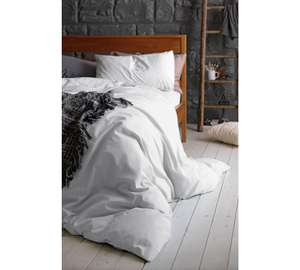 Argos Home 100% Cotton White Bedding Set £12.99  and others!