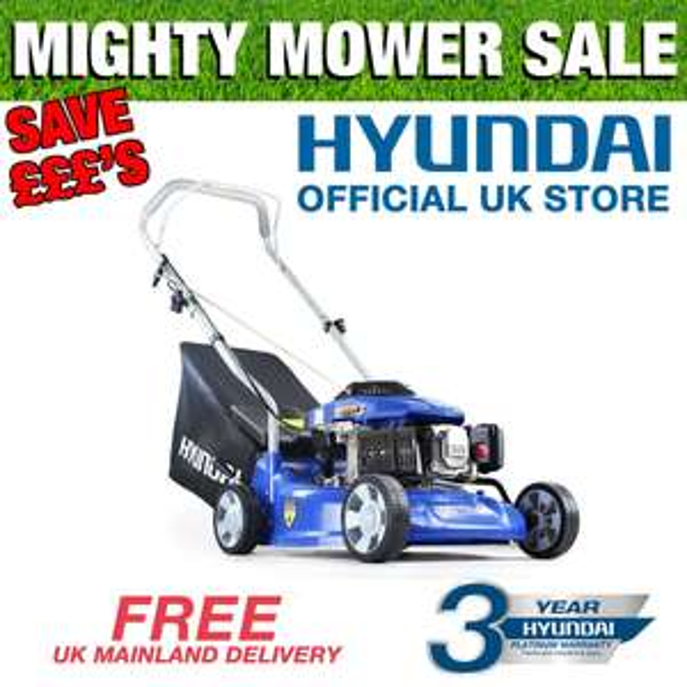 "Hyundai Petrol Push Lawnmower HYM400P 40cm 16"" inch Cut £95.62 delivered @ hyundaipowerequipmentdirect / eBay"