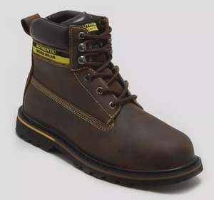 Leather Steel Toe Cap Safety Boots £15 @ Matalan - Free c&c