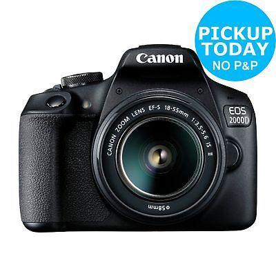 Canon EOS 2000D DSLR 24MP Camera Body with 18 - 55mm Lens @ Argos eBay w/code + £40 Canon Cashback £339.99