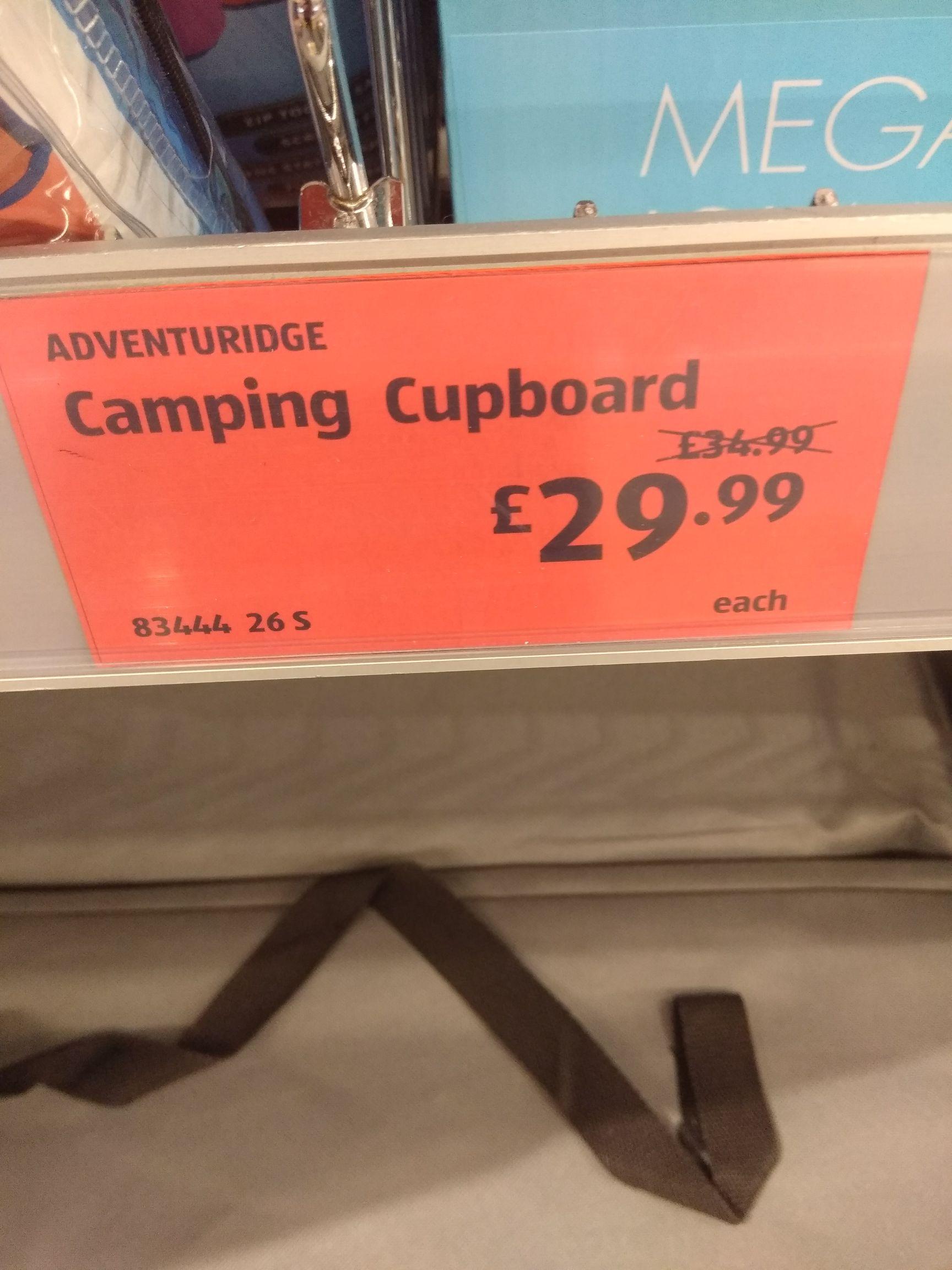 Aldi camping cupboard £29.99 instore