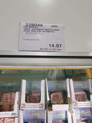 Wagyu beef 220g £14.97 @ Costco - Sunbury