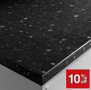 Extra 10% Off Laminate Worktops - E.G Black Slate Effect 3000 x 600 x 38mm £44.10 @ Wickes (Free C&C / Discount at basket)