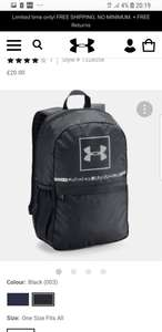 Under Armour backpack £15 with code and free Delivery @UnderArmour