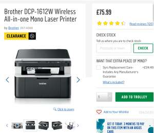 Brother DCP-1612W Wireless All-in-one Mono Laser Printer @ Argos £75.99