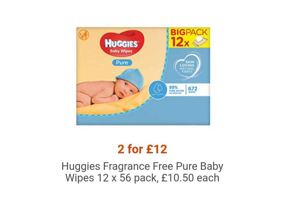 24 packs of huggies baby wipes £12 @ Tesco
