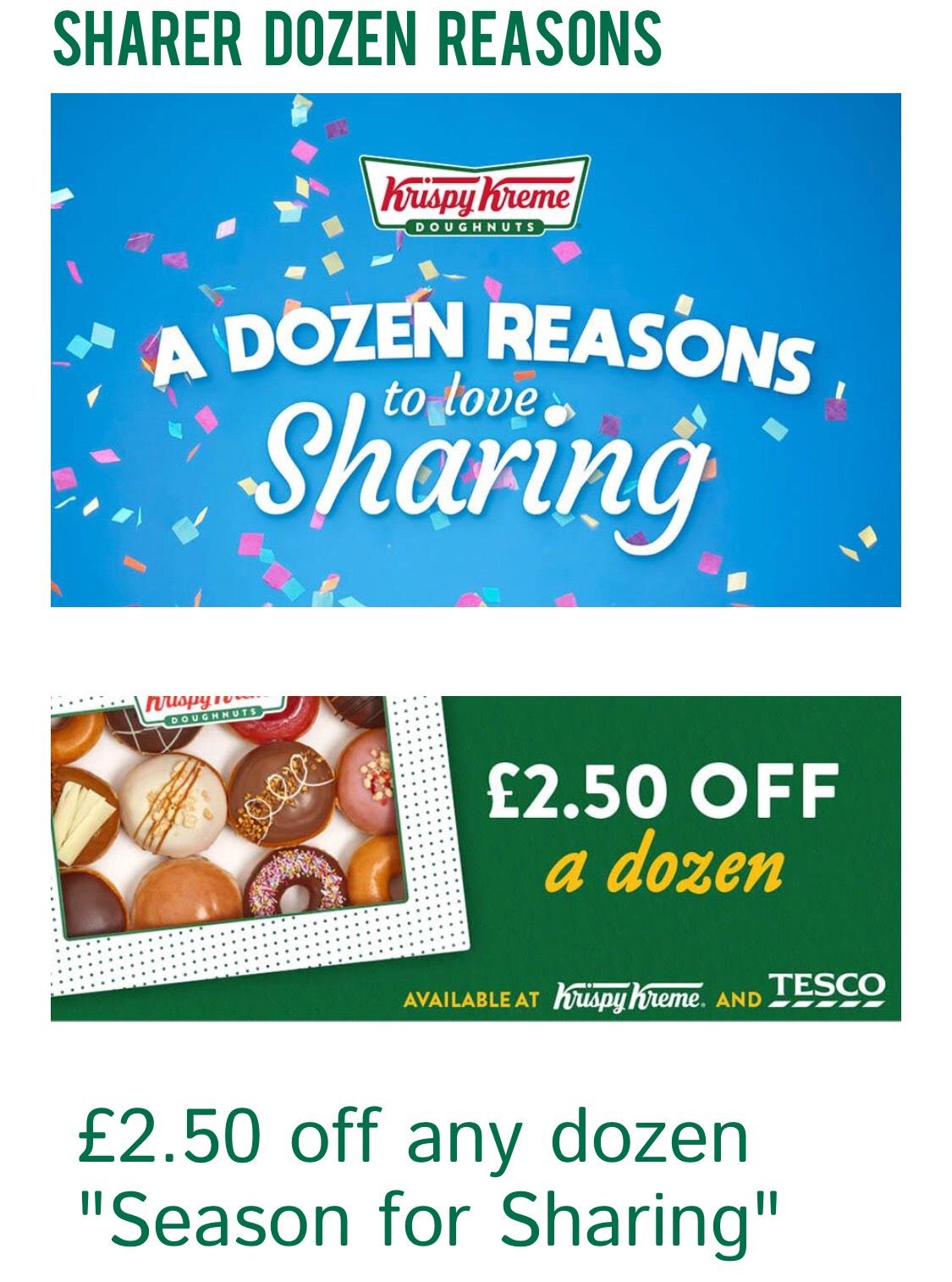 £2.50 off any Dozen at Krispy Kreme