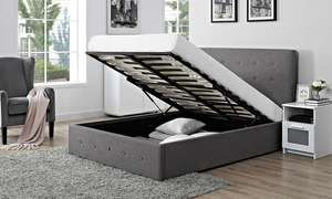 King size Verona Fabric Storage Ottoman Bed with Optional Mattress With Free Delivery £179 @ Groupon