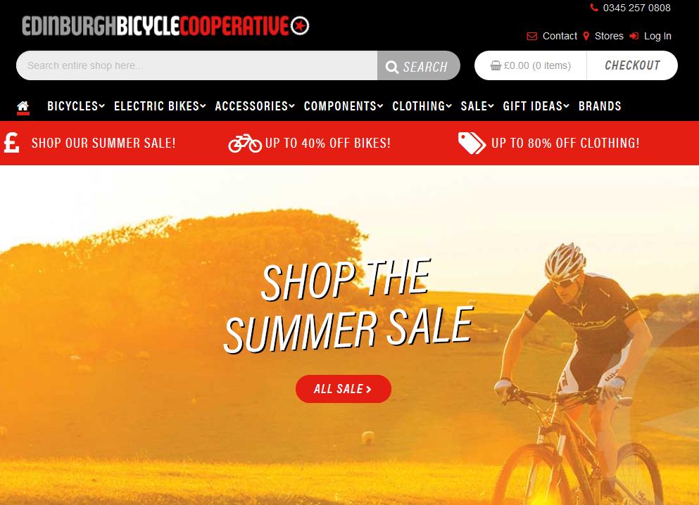 Edinburgh Bicycle Coop Summer Sale