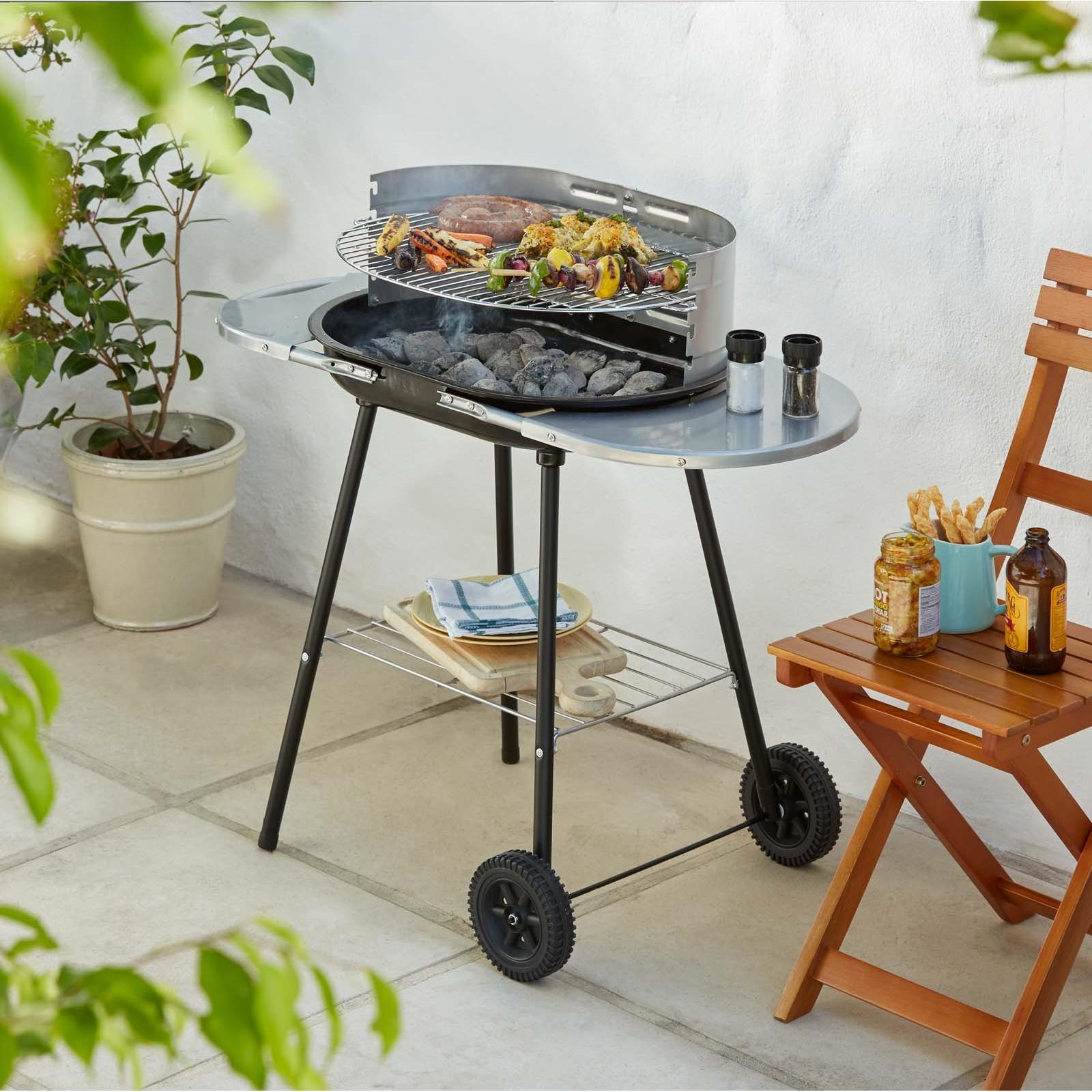 Jumbuck Oval Trolley Charcoal BBQ only £12 @ Homebase