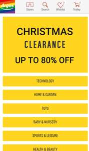 Christmas stocking fillers up to 80% off @ Argos free c+c