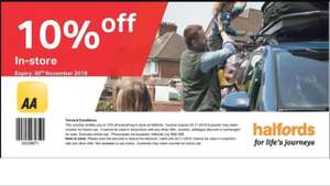 10% off Everything at Halfords