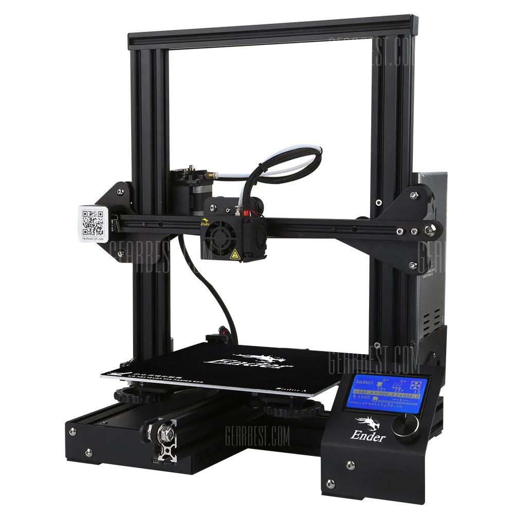 Creality Ender-3 3D printer. Excellent budget 3D printer Gearbest