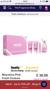 Moschino Pink Fresh set. £30 from The Fragrance Shop