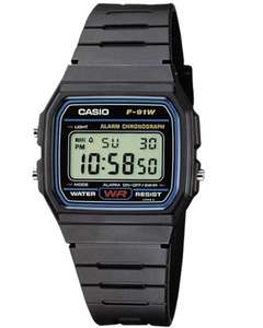 Casio Collection Unisex Adults Watch F-91W-1XY for £6.39 Prime / £10.88 Non Prime @ Amazon